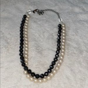 Express Hematite & Pearl double layer necklace